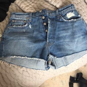 Reformation denim shorts size 27